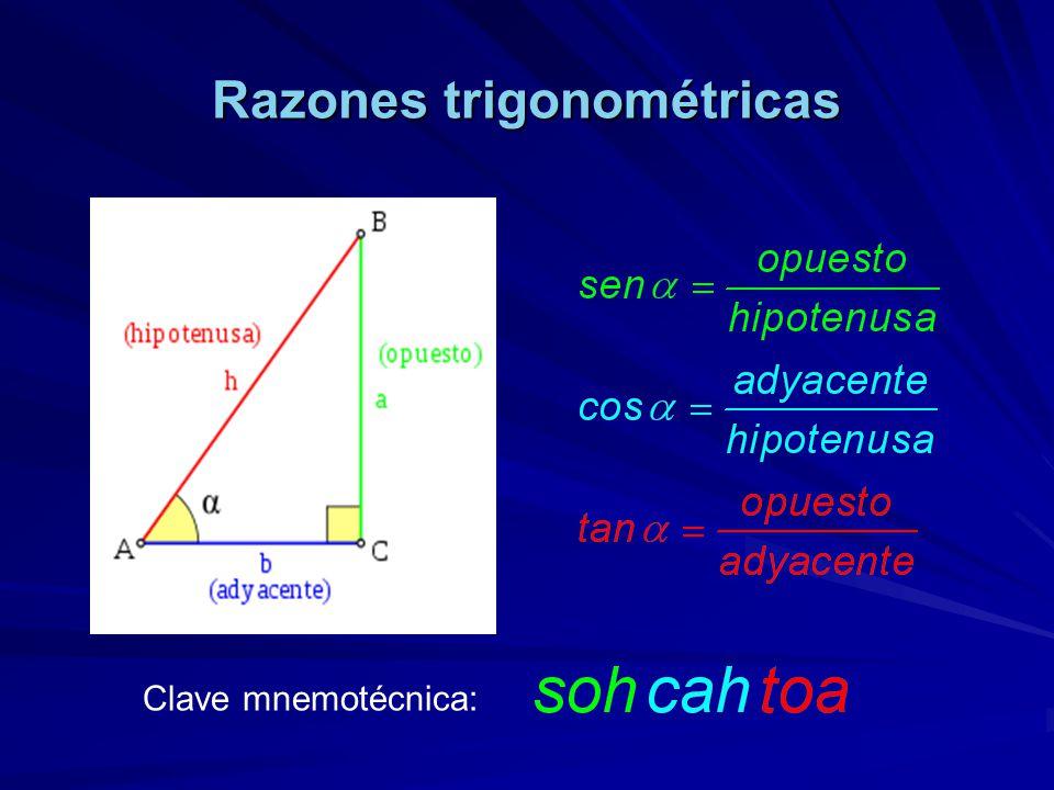Razones trigonométricas Clave mnemotécnica: