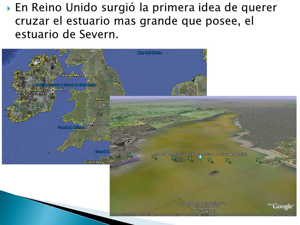 En Reino Unido surgió la primera idea de querer cruzar el estuario mas grande que posee, el estuario de Severn.