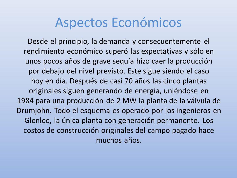 Aspectos Económicos Desde el principio, la demanda y consecuentemente el rendimiento económico superó las expectativas y sólo en unos pocos años de gr
