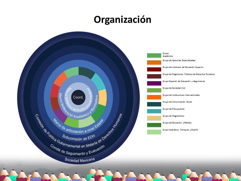 Organización Grupo Académico rupo Académico Grupo de Asesorías Especializadas Grupo de Institutos de Educación Superior Grupo de Organismos Públicos d