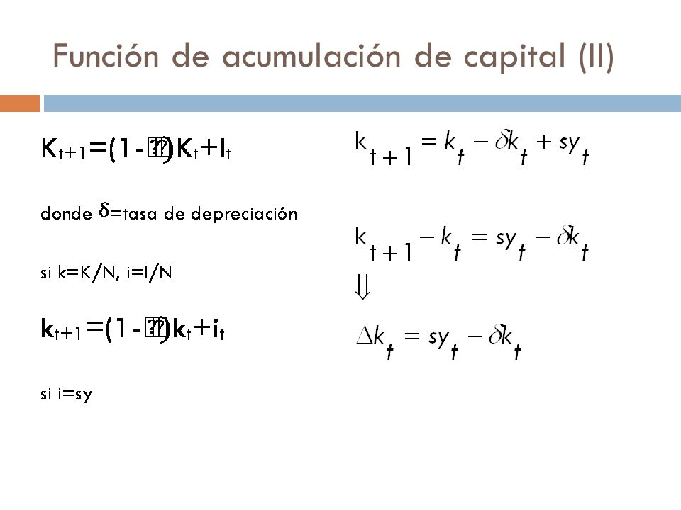 Estado estacionario (I) Función de producción.