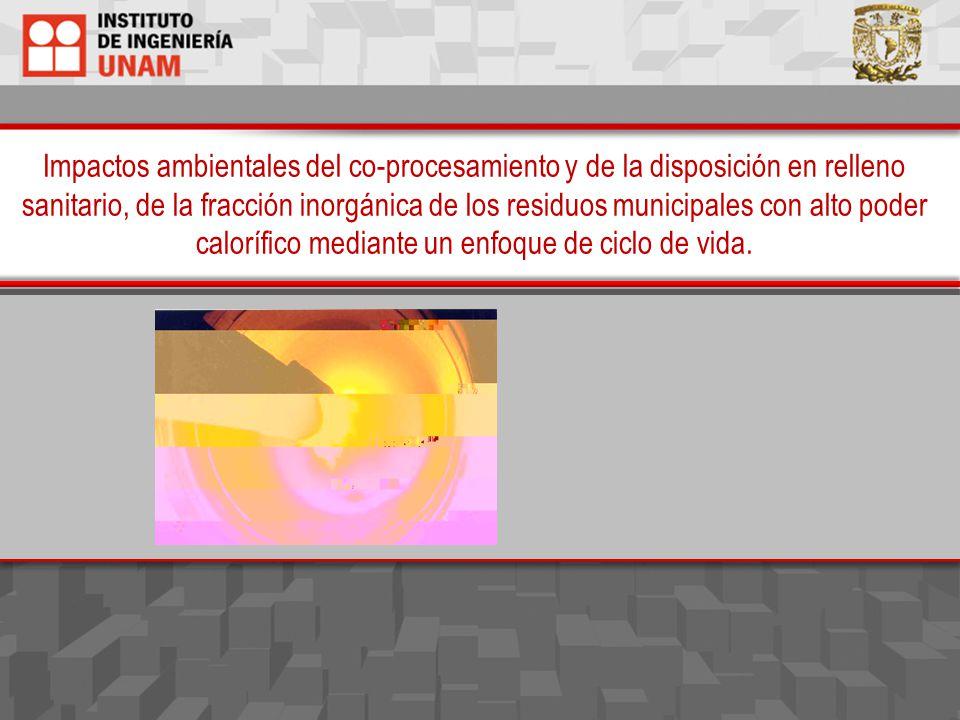 Impactos ambientales del co-procesamiento y de la disposición en relleno sanitario, de la fracción inorgánica de los residuos municipales con alto pod