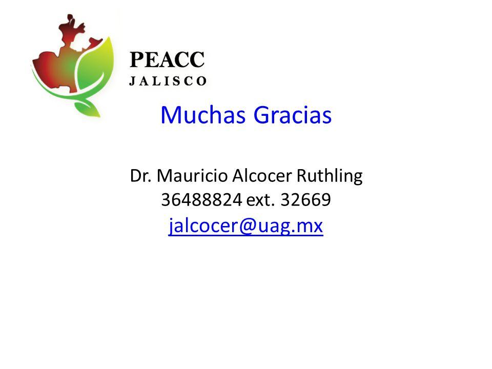 Muchas Gracias Dr. Mauricio Alcocer Ruthling 36488824 ext. 32669 jalcocer@uag.mx