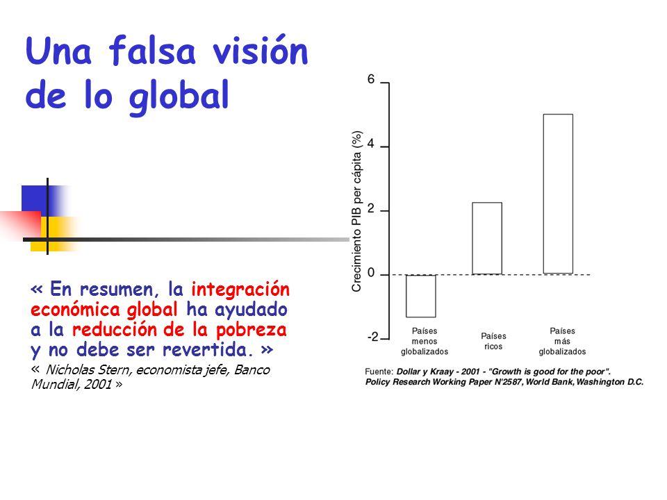 « En resumen, la integración económica global ha ayudado a la reducción de la pobreza y no debe ser revertida. » « Nicholas Stern, economista jefe, Ba