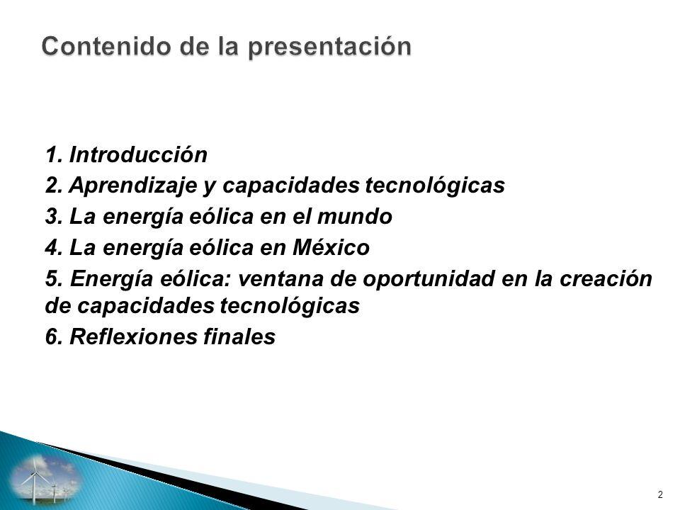 1.Introducción 2. Aprendizaje y capacidades tecnológicas 3.