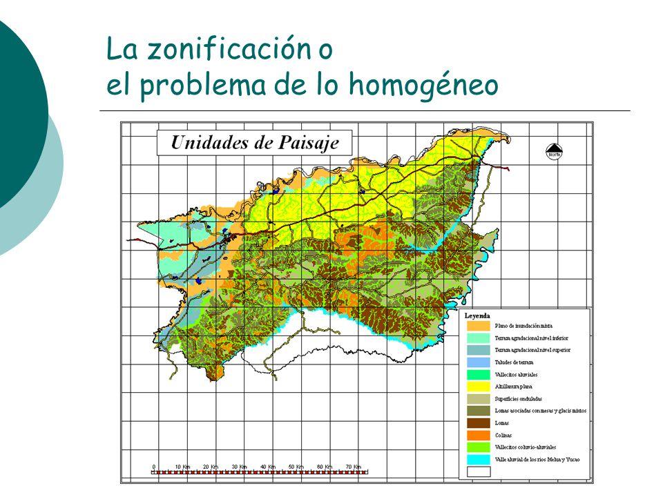 La zonificación o el problema de lo homogéneo