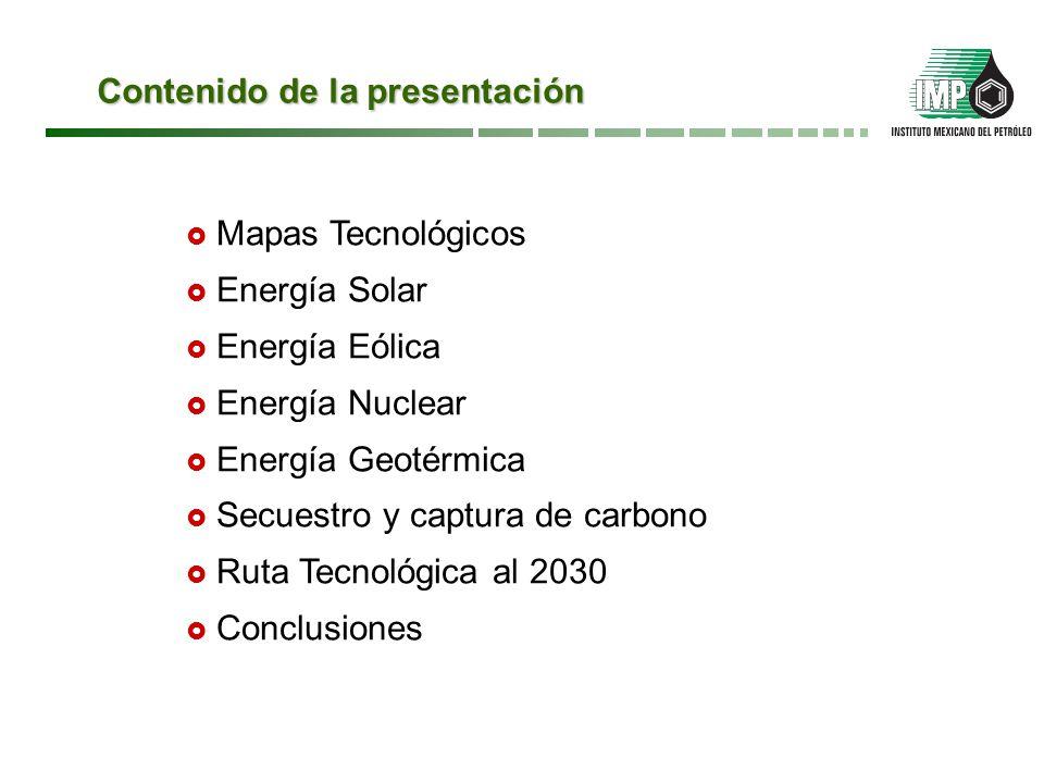 Energía eólica. Desarrollo de turbinas Fuente: Technology Roadmap Wind Energy. IEA, 2010