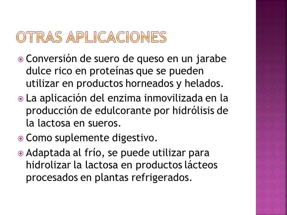 Conversión de suero de queso en un jarabe dulce rico en proteínas que se pueden utilizar en productos horneados y helados.