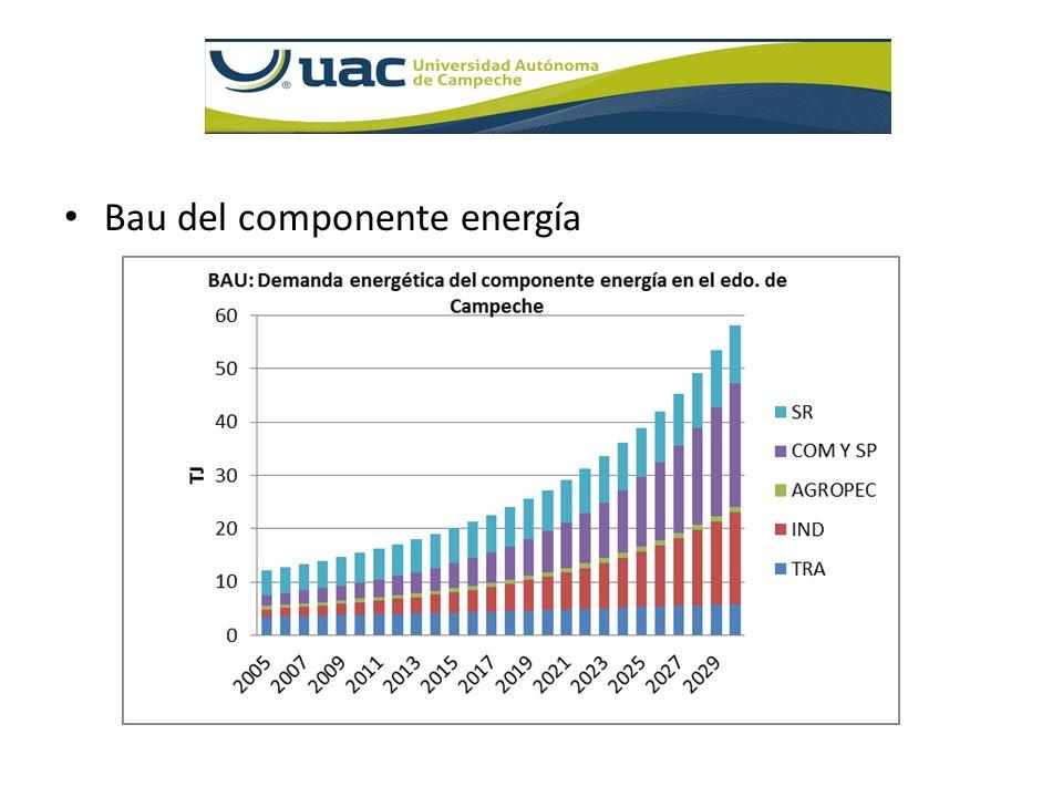 Bau del componente energía