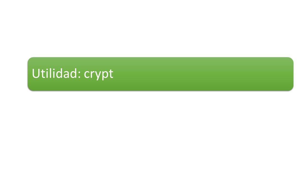 Utilidad: crypt