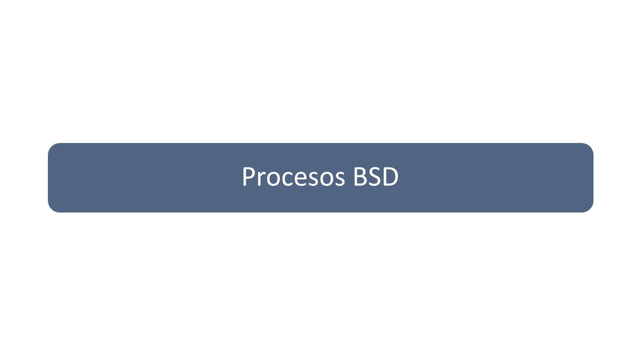 Procesos BSD
