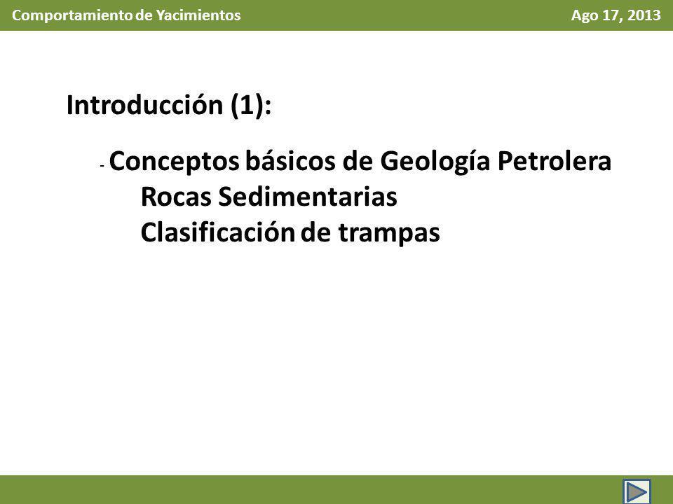 Comportamiento de Yacimientos Ago 24, 2013 Sistema Internacional