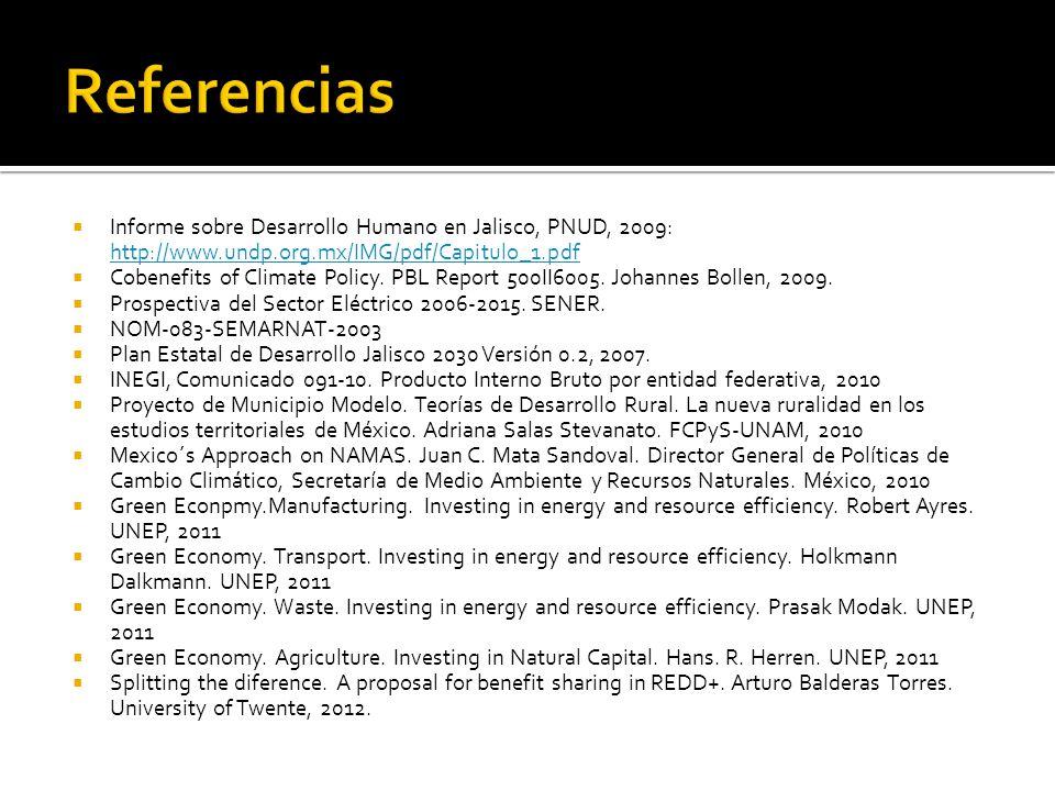 Informe sobre Desarrollo Humano en Jalisco, PNUD, 2009: http://www.undp.org.mx/IMG/pdf/Capitulo_1.pdf http://www.undp.org.mx/IMG/pdf/Capitulo_1.pdf Co