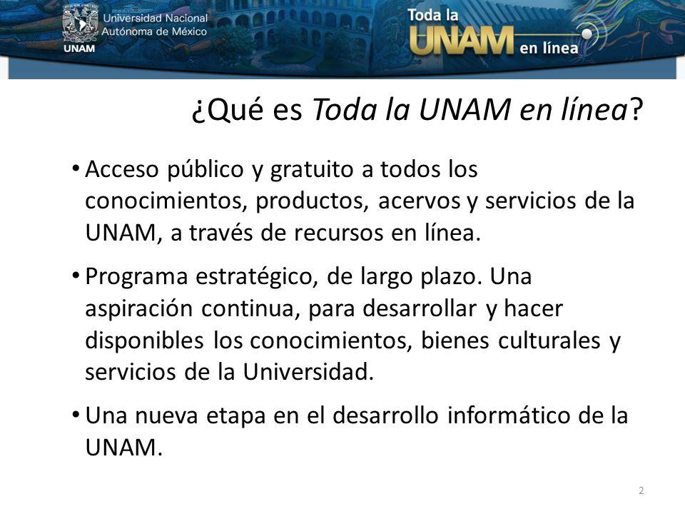 ¿Qué es Toda la UNAM en línea.