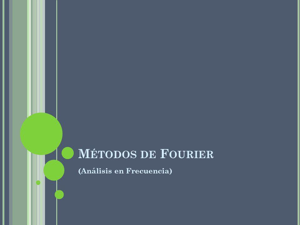 M ÉTODOS DE F OURIER (Análisis en Frecuencia)