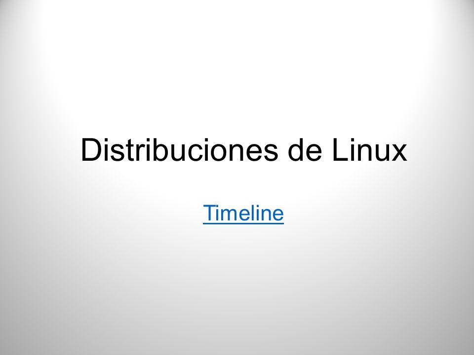 Distribuciones de Linux Timeline Timeline