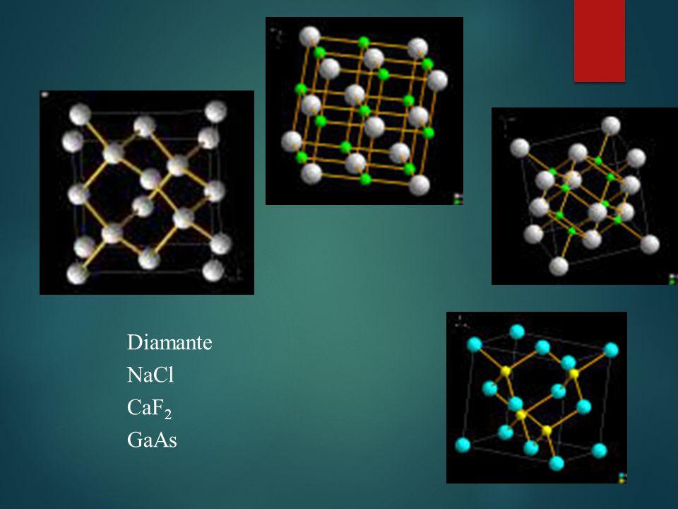 Diamante NaCl CaF 2 GaAs
