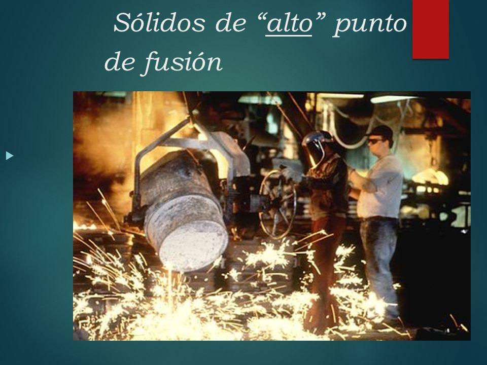 Sólidos de alto punto de fusión