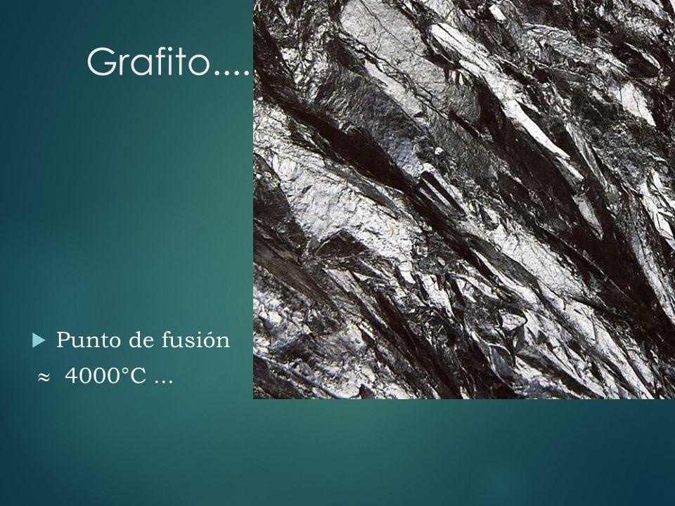 Grafito.... Punto de fusión 4000°C...