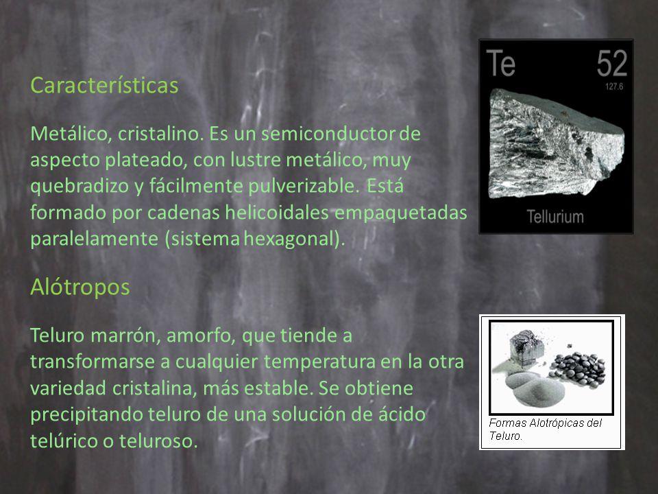 Características Metálico, cristalino.