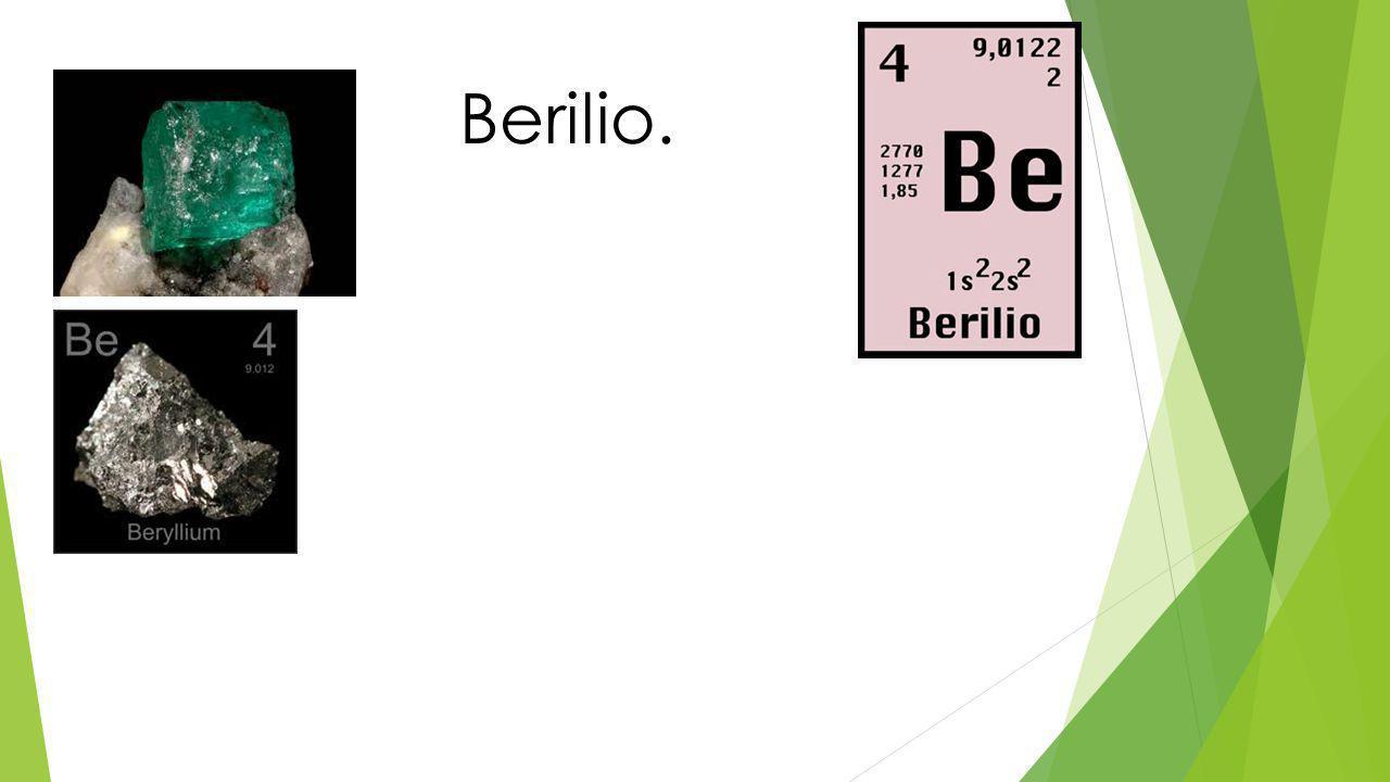 Propiedades del Berilio.