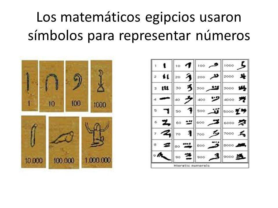 Los matemáticos egipcios usaron símbolos para representar números