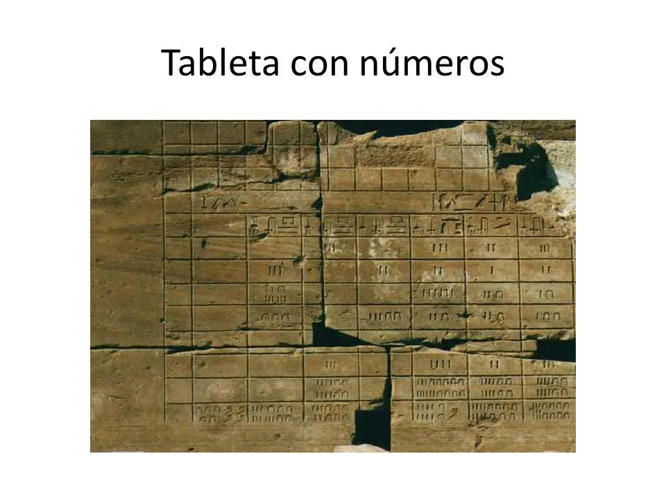 Tableta con números