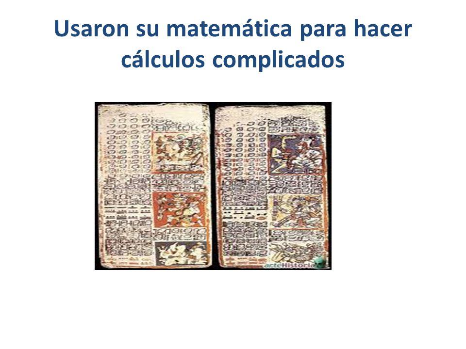 Usaron su matemática para hacer cálculos complicados