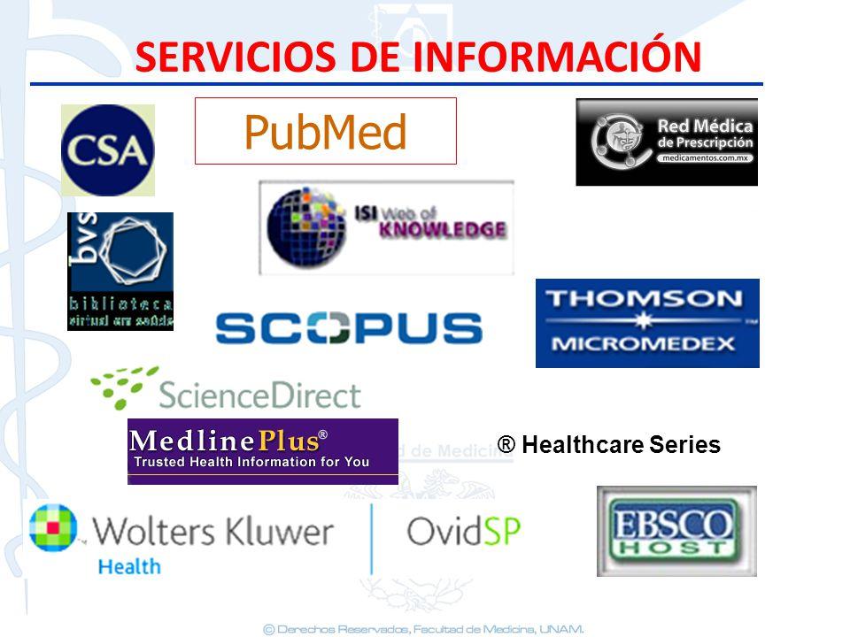 SERVICIOS DE INFORMACIÓN PubMed ® Healthcare Series