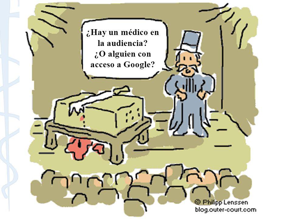 ¿Hay un médico en la audiencia? ¿O alguien con acceso a Google?