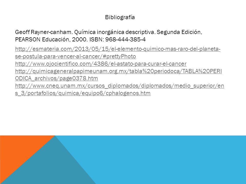 http://esmateria.com/2013/05/15/el-elemento-quimico-mas-raro-del-planeta- se-postula-para-vencer-al-cancer/#prettyPhoto http://www.ojocientifico.com/4