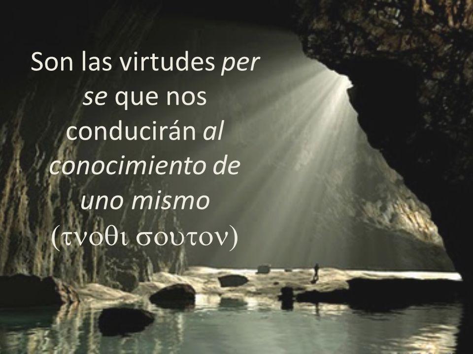 Son las virtudes per se que nos conducirán al conocimiento de uno mismo