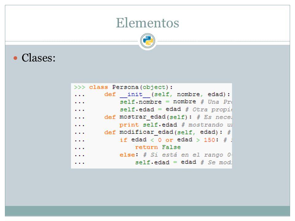 Elementos Clases: