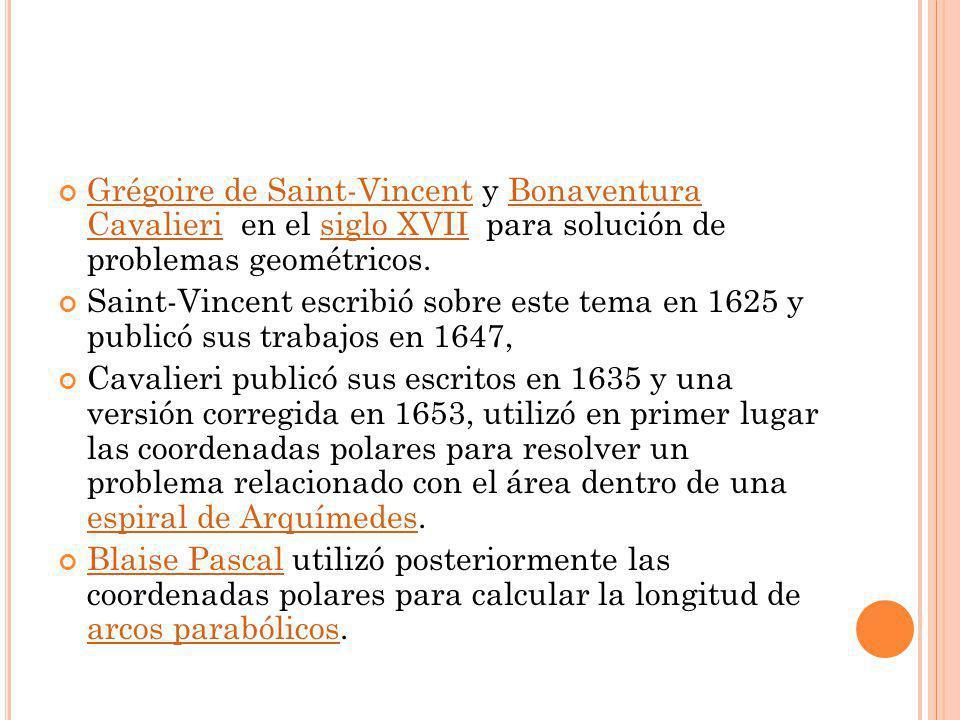 Grégoire de Saint-Vincent y Bonaventura Cavalieri en el siglo XVII para solución de problemas geométricos. Grégoire de Saint-VincentBonaventura Cavali