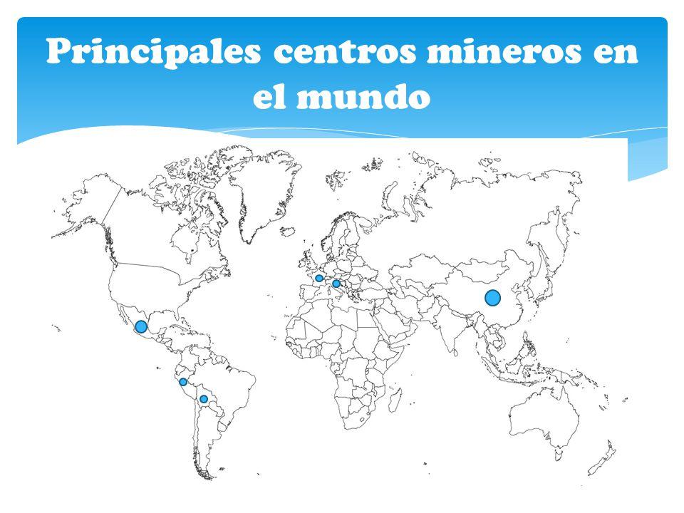 Principales centros mineros en el mundo