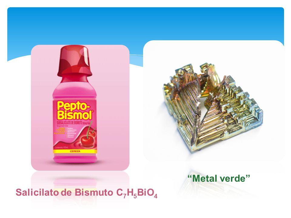 Salicilato de Bismuto C 7 H 5 BiO 4 Metal verde