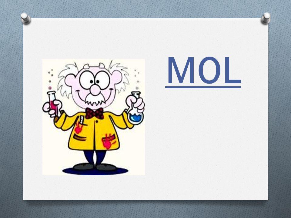 ¿QUE ES UN MOL? O Es un cierto número de: O Atomos O Moleculas O Iones