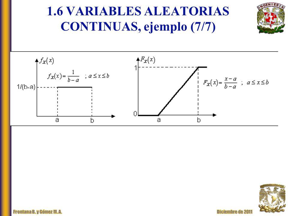 1.6 VARIABLES ALEATORIAS CONTINUAS, ejemplo (7/7)