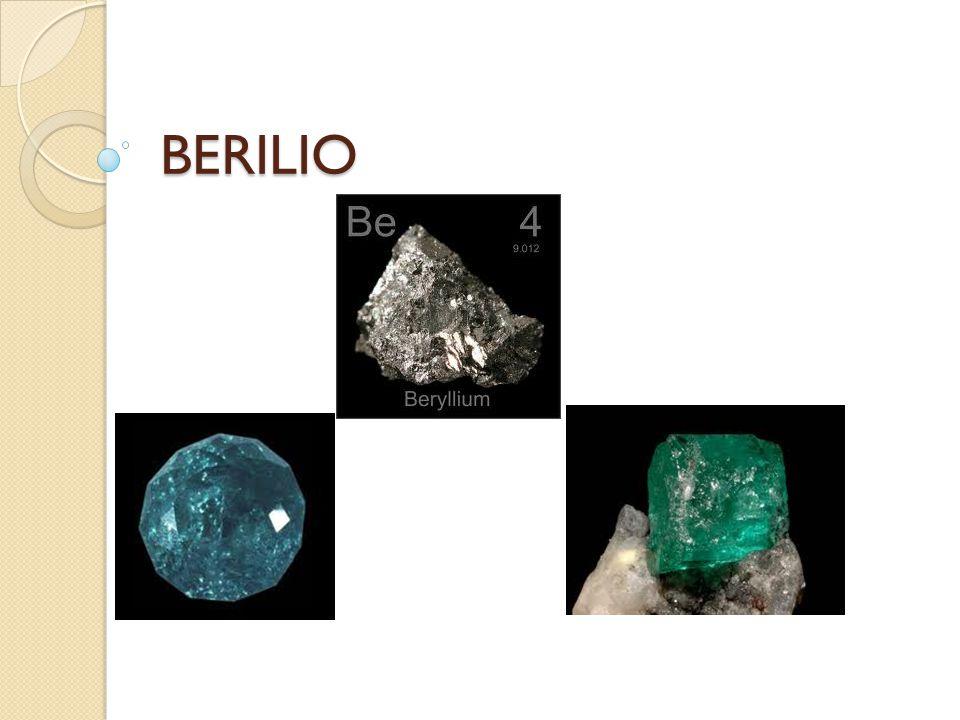 Presencia en la naturaleza El mineral principal del cual se extrae el metal es el mineral berilio Be 3 Al 2 (SiO 3 ) 6.
