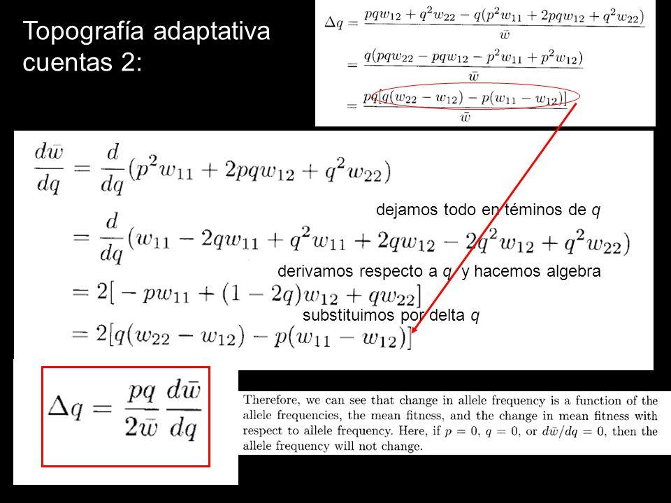Topografía adaptativa cuentas 2: dejamos todo en téminos de q derivamos respecto a q y hacemos algebra substituimos por delta q
