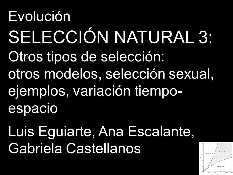 GENETICA DE POBLACIONES SELECCION NATURAL 4 segunda parte: Ecología Genética y Selección Balanceadora