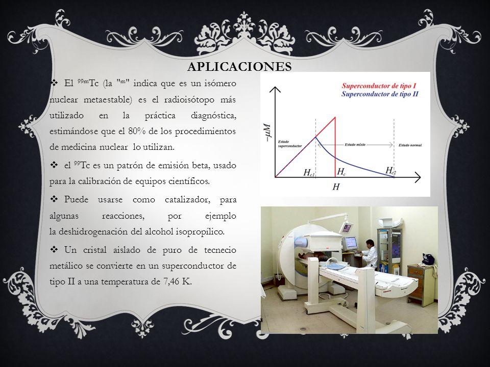 APLICACIONES El 99m Tc (la