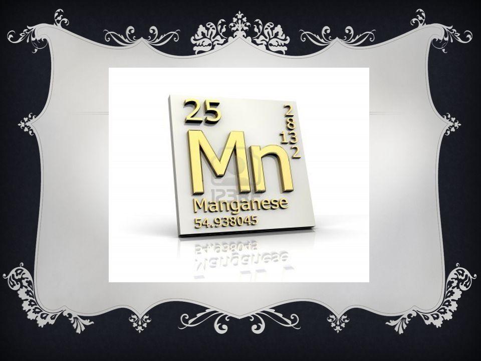 El manganeso es un metal de transición blanco grisáceo, parecido al hierro.