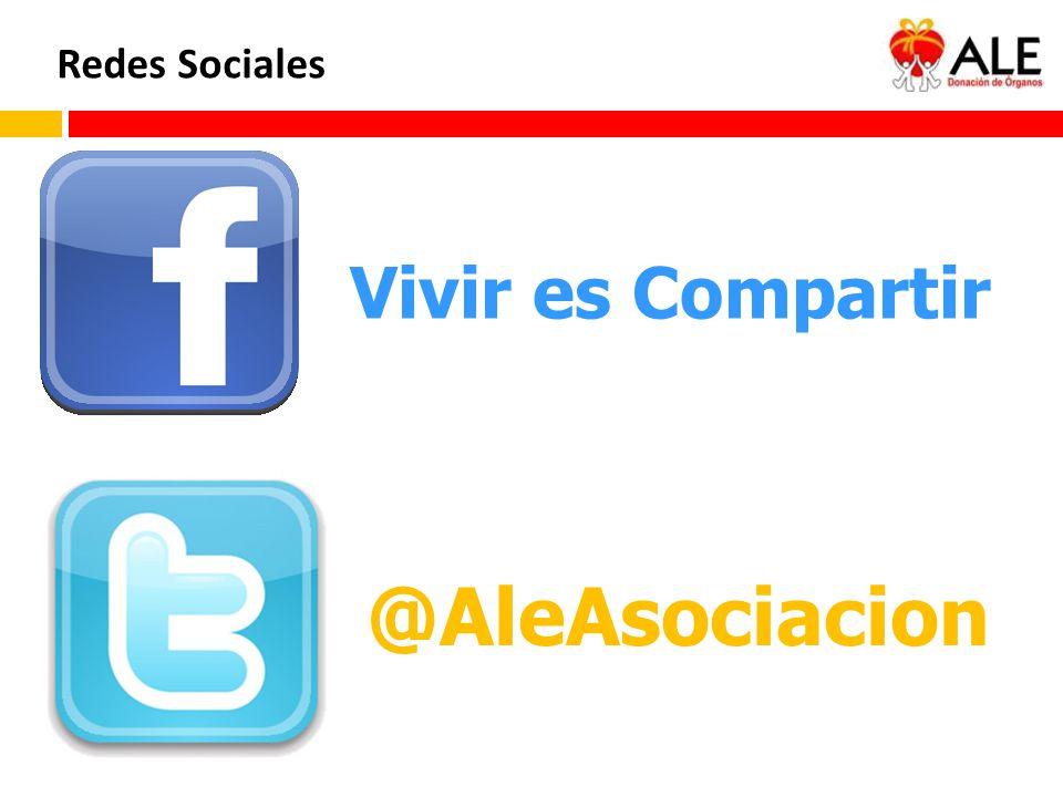 Redes Sociales Vivir es Compartir @AleAsociacion