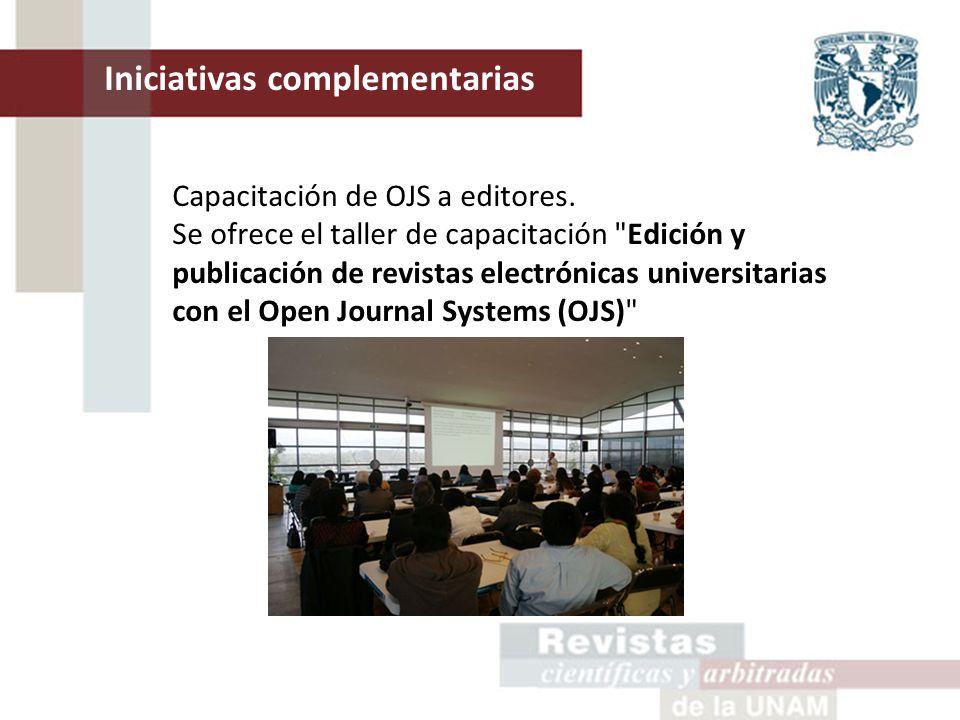 Capacitación de OJS a editores.