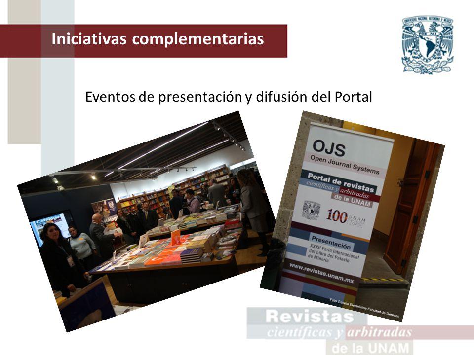 Eventos de presentación y difusión del Portal Iniciativas complementarias