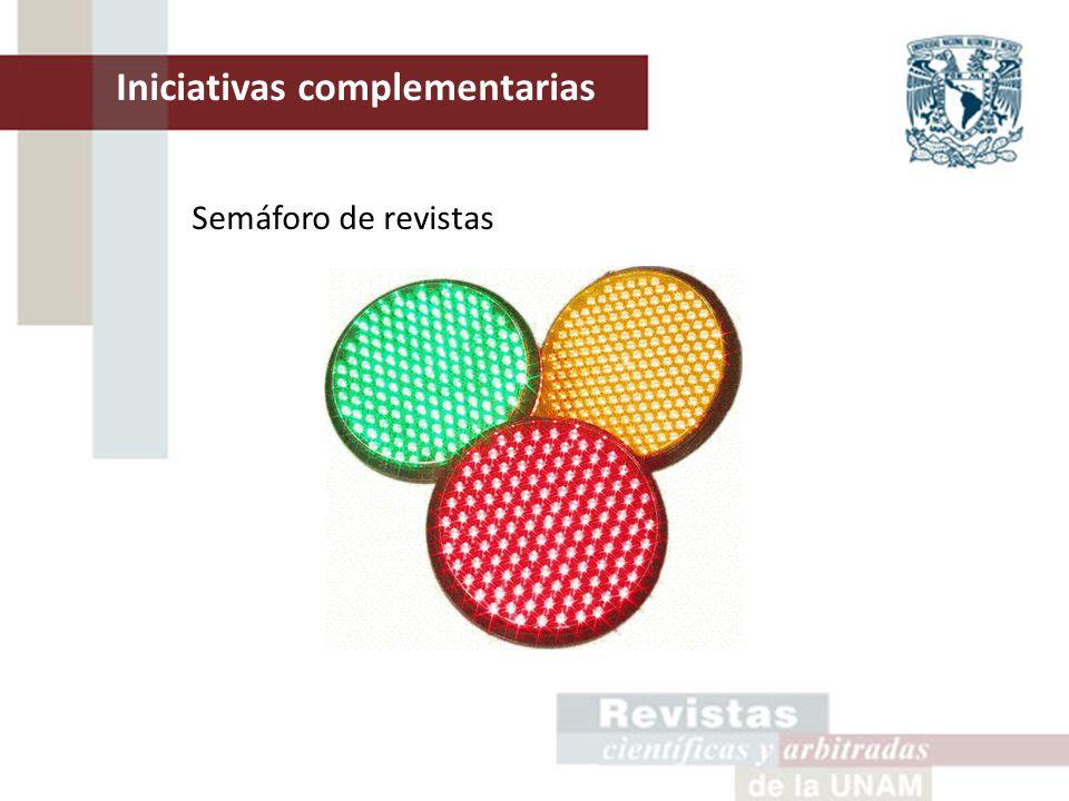 Semáforo de revistas Iniciativas complementarias