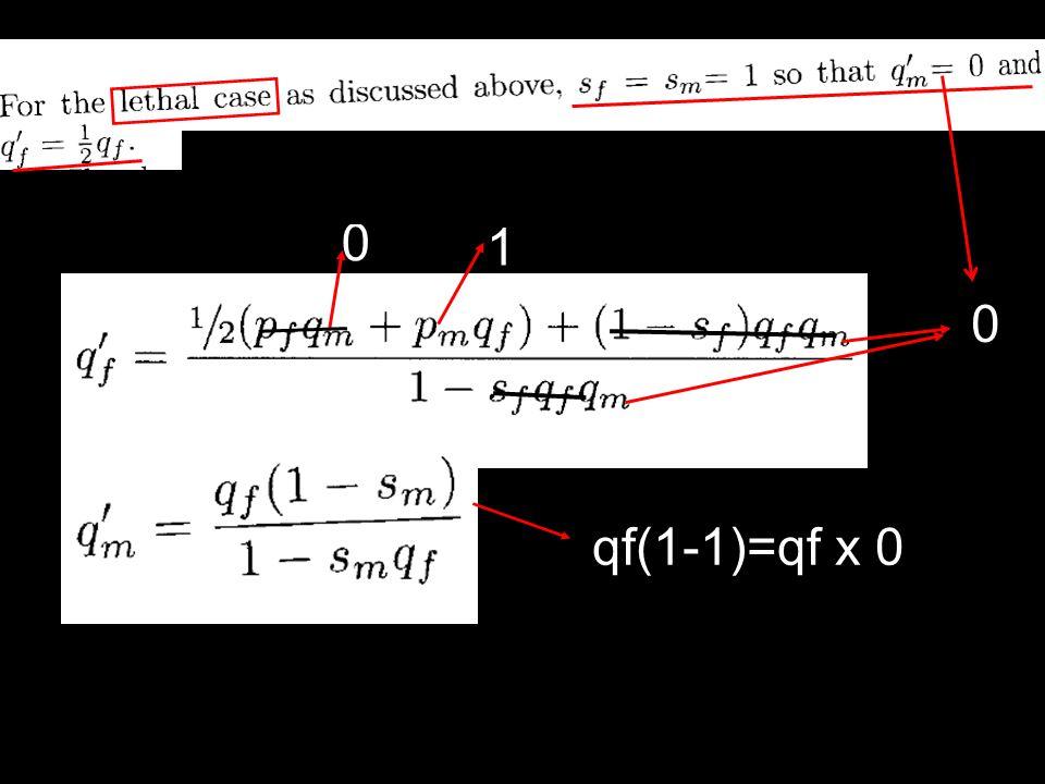 qf(1-1)=qf x 0 0 0 1