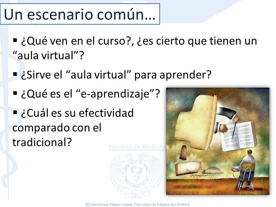 ¿Qué ven en el curso?, ¿es cierto que tienen un aula virtual? ¿Sirve el aula virtual para aprender? ¿Qué es el e-aprendizaje? ¿Cuál es su efectividad