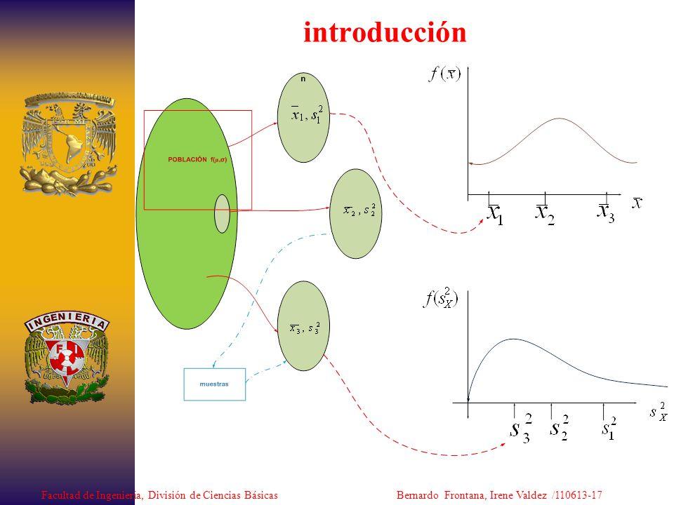 introducción Facultad de Ingeniería, División de Ciencias Básicas Bernardo Frontana, Irene Valdez /110613-17